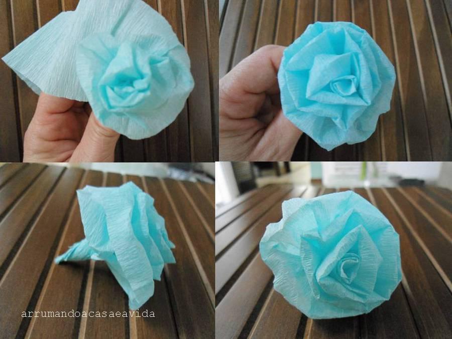 Маленькие розы своими руками из гофрированной бумаги