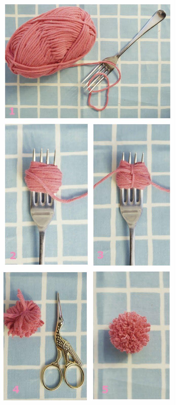 Как сделать маленький помпон из пряжи