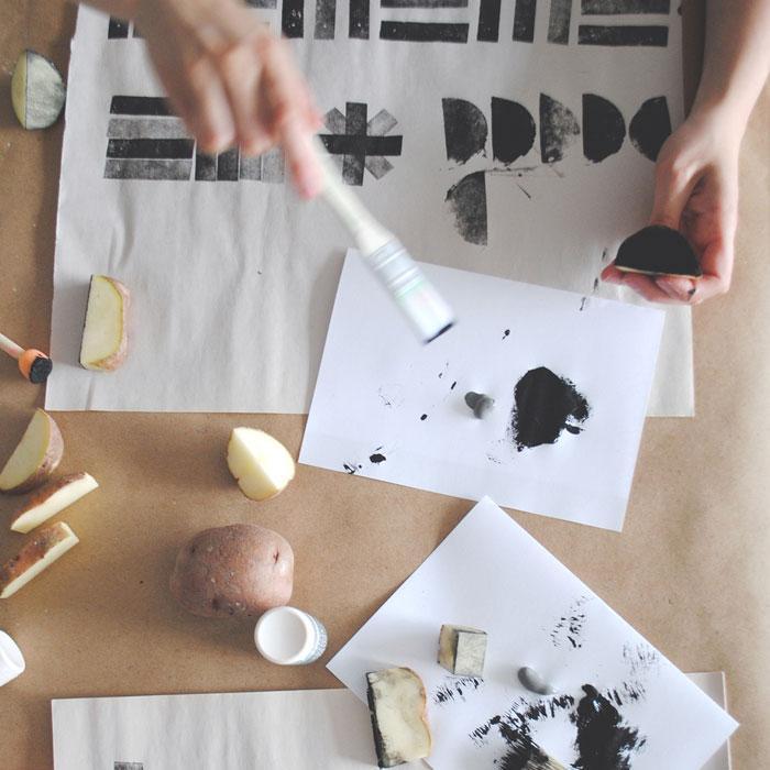 Как сделать принты на бумаге