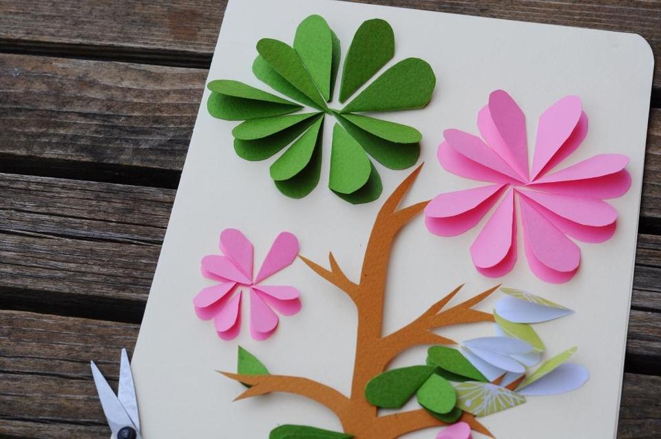 Летние открытки своими руками для детей