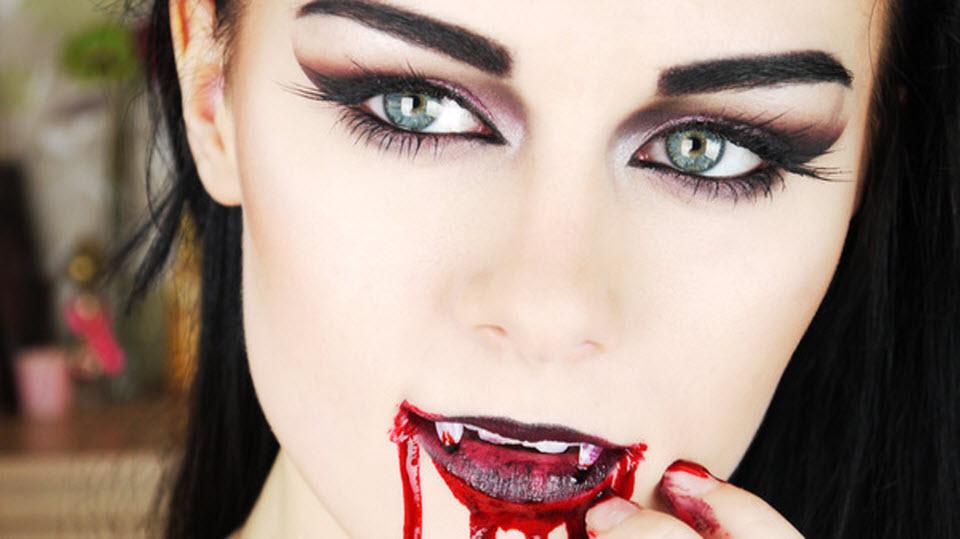 Макияж вампирши на хэллоуин своими руками