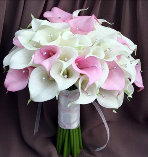 свадебный букет из калл фото