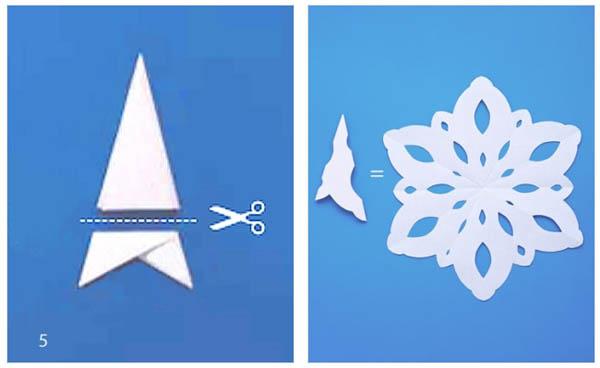 Как сделать самую простую снежинку из бумаги