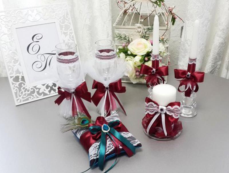 Свадьба в цвете марсала своими руками