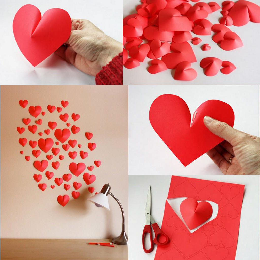 С сердце из бумаги своими руками